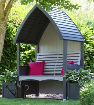 Cottage Arbour Charcoal & Stone