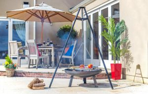 DELUXE HANGING TRIPOD W/GRILL