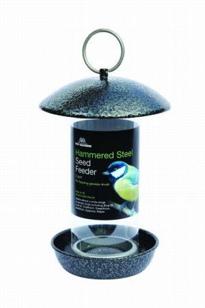 Hammered Steel Seed Feeder – 2 port