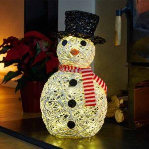 Sparkly Snowman, 20 LEDs